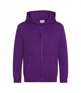 purple childrens zipped hoodie