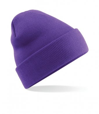 purple cuffed beanie