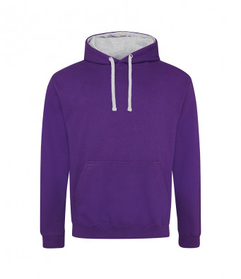 purple heathergrey contrast hoodies