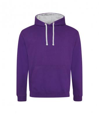 purple heathergrey contrast hoodies