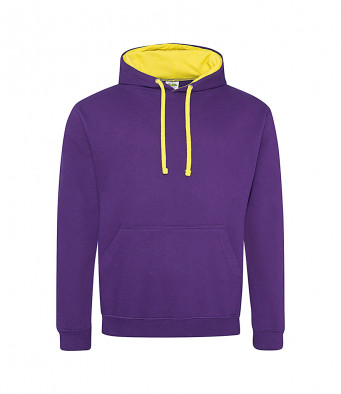 purple sunyellow contrast hoodies