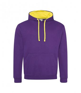 purple sunyellow contrast hoodies