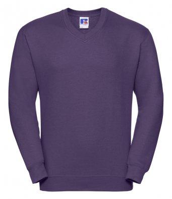 purple v neck sweatshirt