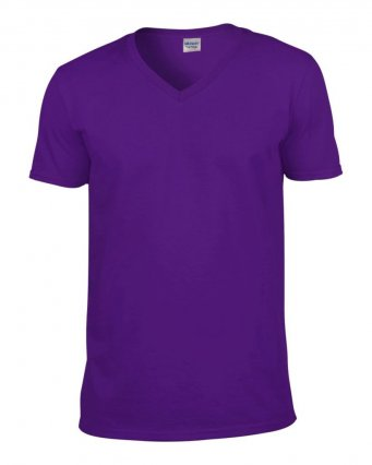 purple v neck t shirt