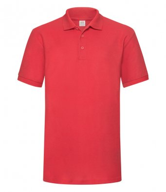 red heavy duty polo shirt