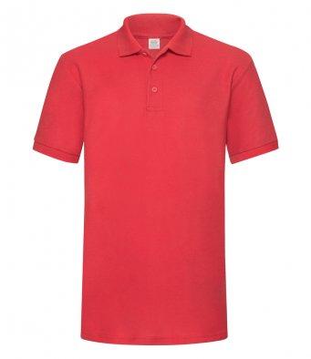 red heavy duty polo shirt