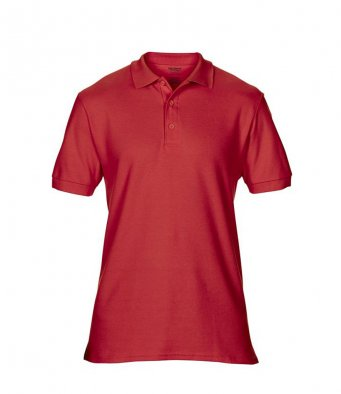red premium cotton polo shirt