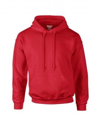 red premium overhead hoodie