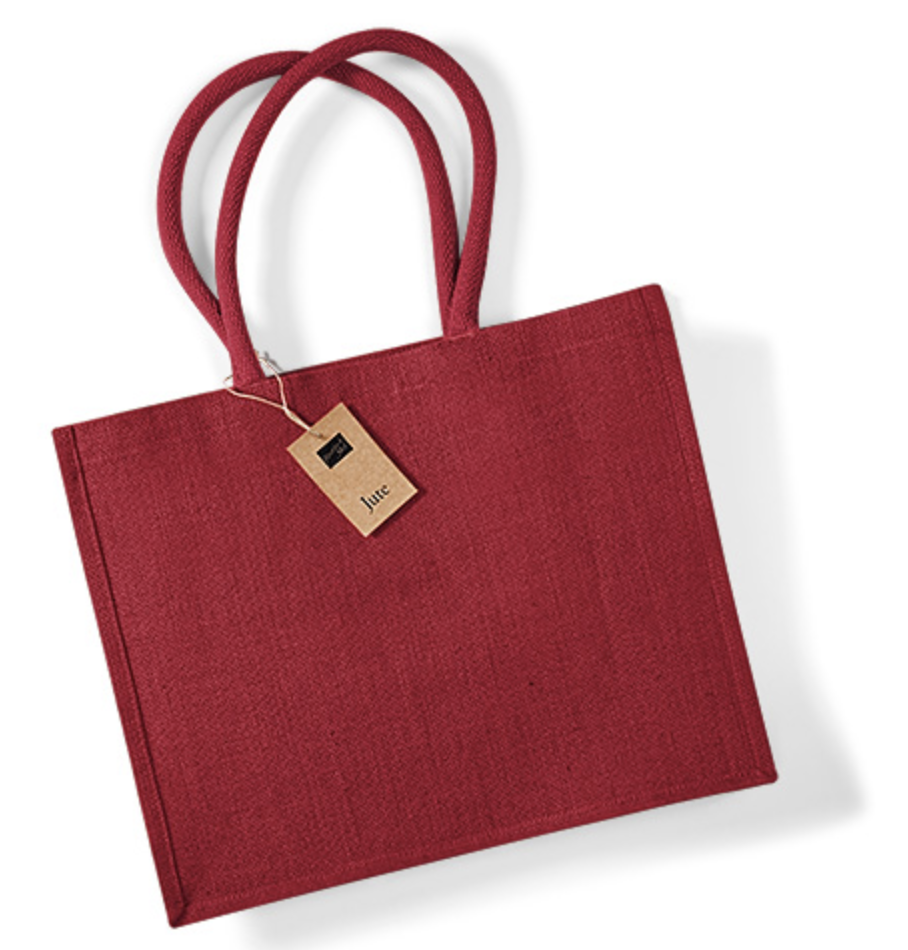 redred jute shopping bag