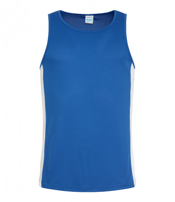 royal blue arc white vest