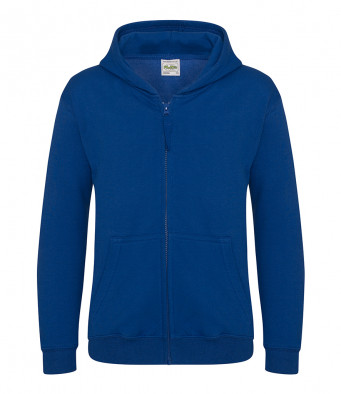 royal blue childrens zipped hoodie