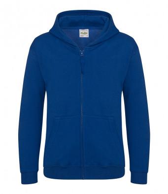 royal blue childrens zipped hoodie