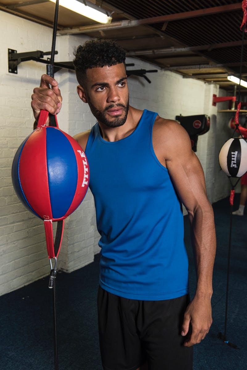 royal blue sports vest