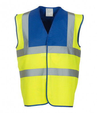 royal blue yellow hi vis vest