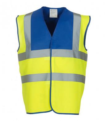 royal blue yellow hi vis vest