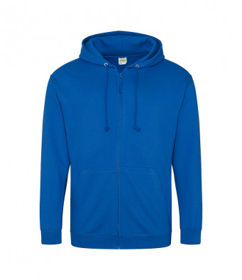 royal blue zipped hoodie