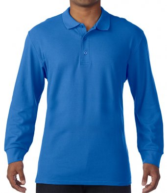 royal long sleeve polo shirt