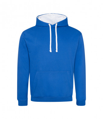 royalblue arcticwhite contrast hoodies
