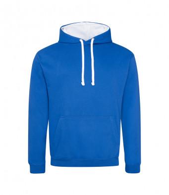 royalblue arcticwhite contrast hoodies