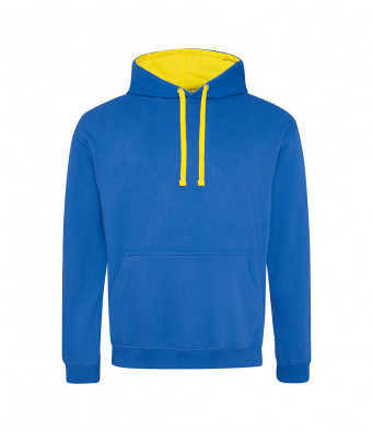 royalblue sunyellow contrast hoodies