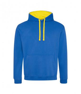 royalblue sunyellow contrast hoodies
