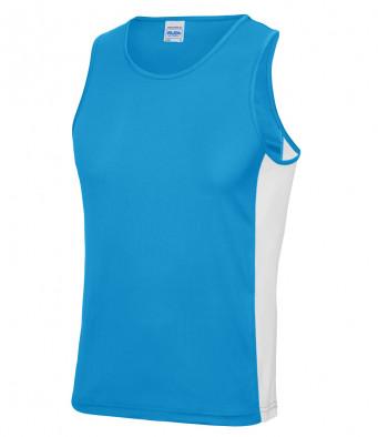 sapphire blue arc white vest