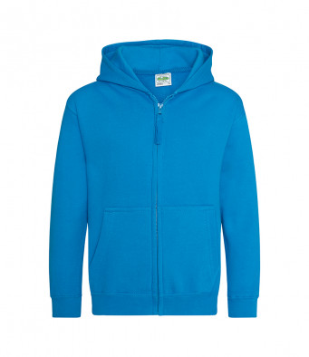 sapphire blue childrens zipped hoodie