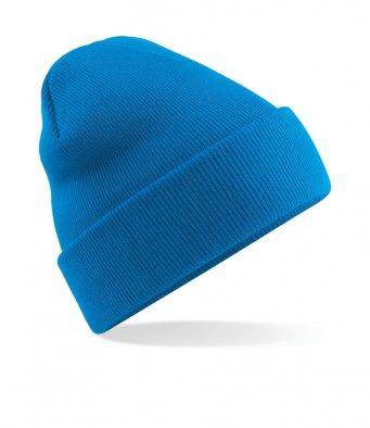 sapphire blue cuffed beanie