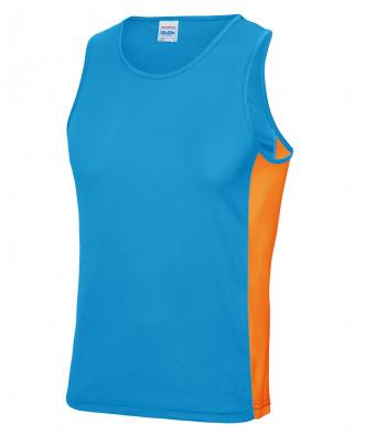 sapphire blue elec orange vest