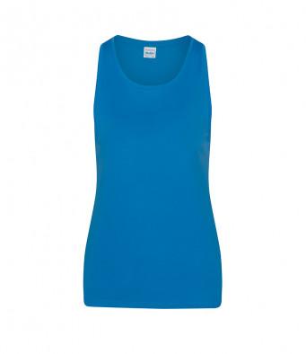 sapphire blue ladies sports vest