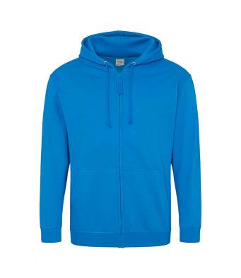 sapphire blue zipped hoodie