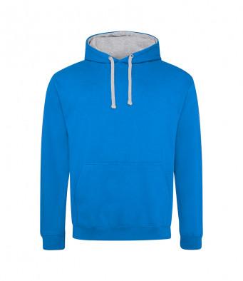 sapphireblue heathergrey contrast hoodies