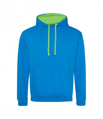 sapphireblue limegreen contrast hoodies