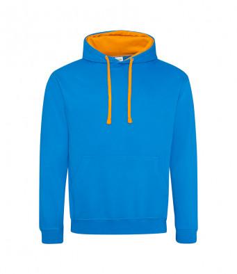 sapphireblue orangecrush contrast hoodies