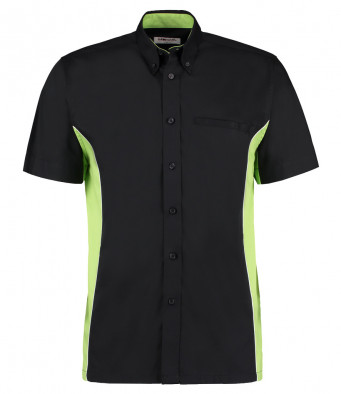 short sleeve sports shirt black lime