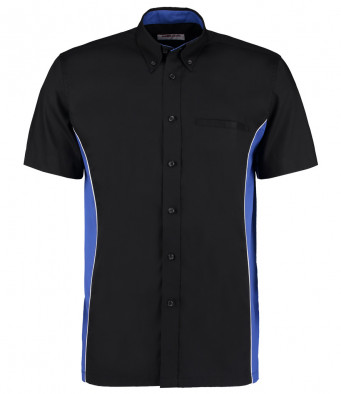 short sleeve sports shirt black royal