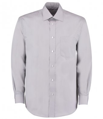 silver long sleeve business shirt
