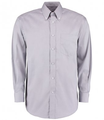 silver long sleeve oxford shirt
