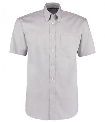 silver oxford short sleeve shirt