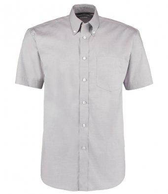 silver oxford short sleeve shirt
