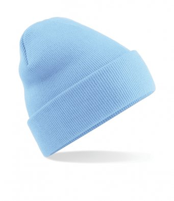 sky blue cuffed beanie