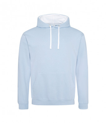 skyblue arcticwhite contrast hoodies