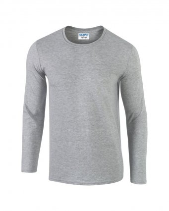 sport grey long sleeve cotton t shirt