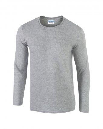 sport grey long sleeve cotton t shirt