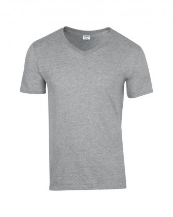 sport grey v neck t shirt