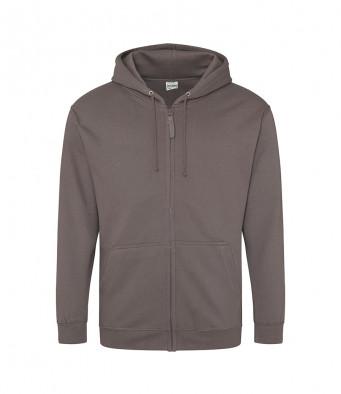 steel grey zipped hoodie