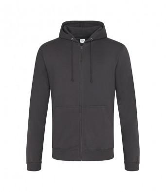 storm grey zipped hoodie