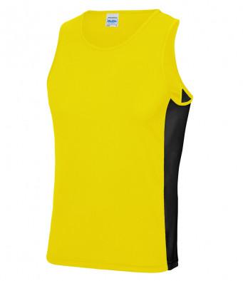 sun yellow jet black vest