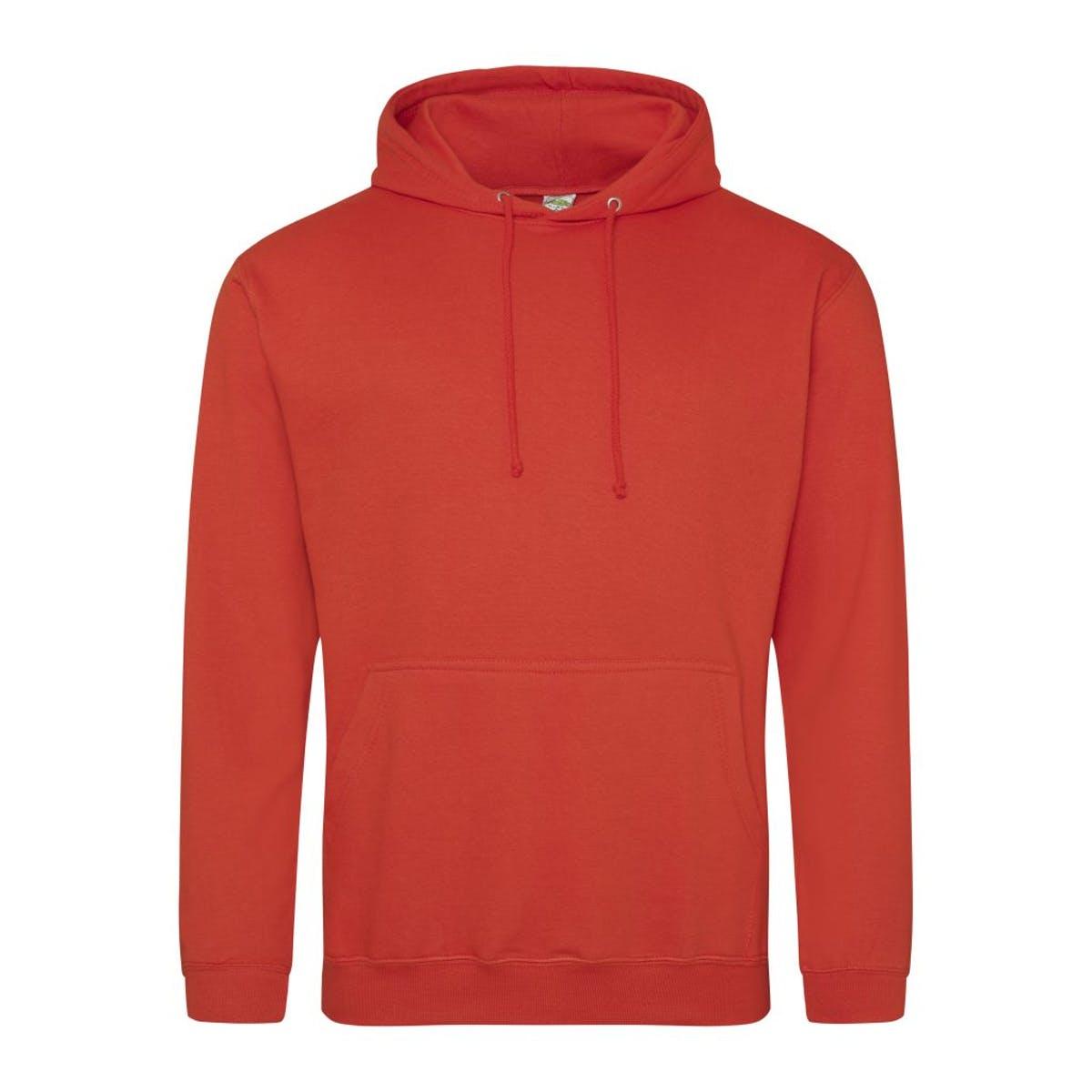 sunset orange college hoodies