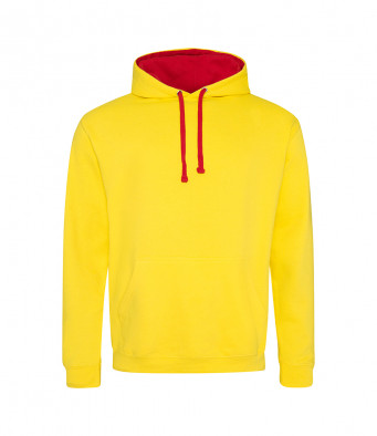 sunyellow firered contrast hoodies